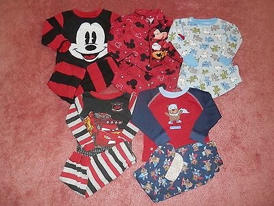 Lot Baby Toddler Boy Fall Winter Pajamas Size 24 MonthsPayment must be received