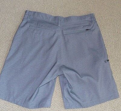 NWT Hawke & Co Men's Stretch Woven Performance Shorts Flex Waist Gray SIZE 34
