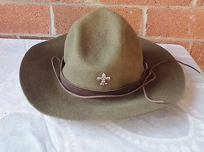 Vintage Boy Scouts Hat With  Badge