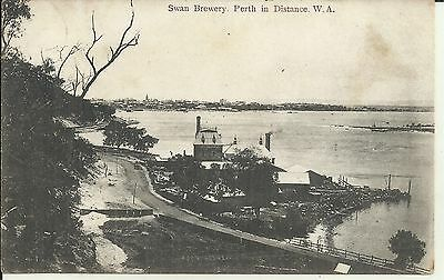 Swan Brewery Perth In Distance Western Australia  Postcard