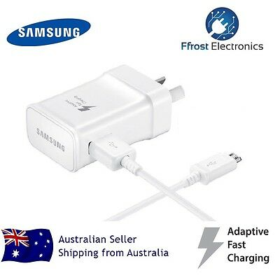 Genuine samsung 9V 5V AC Fast wall charger micro usb cable for S6 S7 egde Note 4