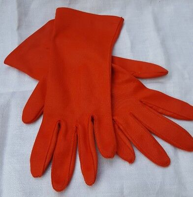 Vintage Women's Orange / Coral Van Raalte Gloves