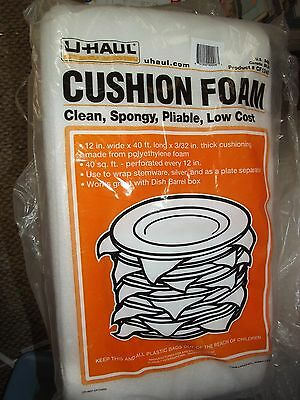 """12 NEW U-HAUL FOAM Glass Plate Silver Packing Protection-Moving Storage-12""""x40'!"""