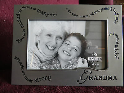 """FRAME """"Grandma You Have Touched Our LIves....""""  4 X 6 PHOTO / PICTURE PEWTER New"""