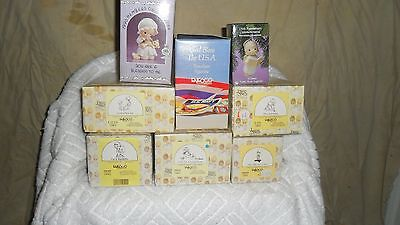 Lot Of 8 Precious Moments Figurines In Excellent Condition ,originial Boxes