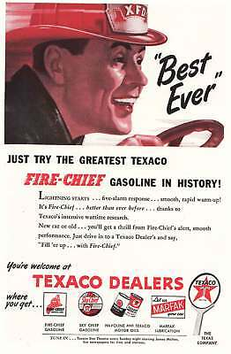 1946 Texaco: Best Ever, Fire Chief (10510) Print Ad