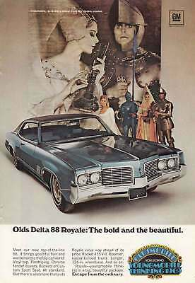 1969 Olds Delta 88 Royale: Classic Movies (7188) Print Ad