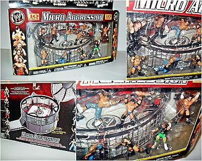 Brand New Wwe Micro Aggression 10 Figurines Action Figure Wrestling Wwf Action