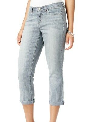 Vintage American Blues NEW Blue Womens Size 4 Striped Cropped Jeans $59 656