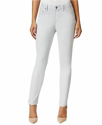 Earl NEW Light Gray Womens Size 8 Slit-Knee Stretch Skinny Ankle Jeans $54 652