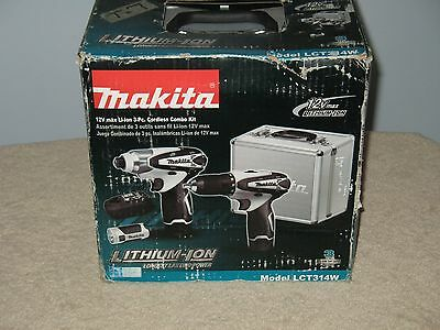 Makita LCT314W Brand new in unopened box 12V 3pc max L-ion battery