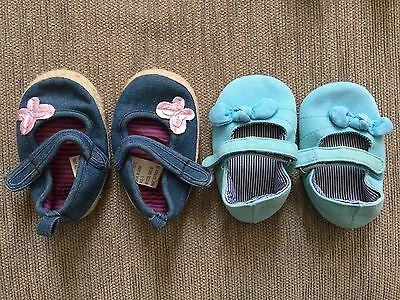 2 x Size 3 Baby Girl Pre Walker Shoes