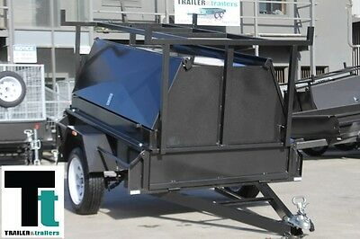 6x4 H/duty Fixed Front Trailer with Top Single Axle Tradesman