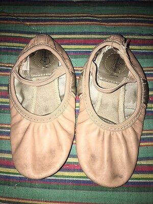 Girls Ballet Slippers Size 1 Medium By Revolution GUC Dance Shoes Pink Toddler