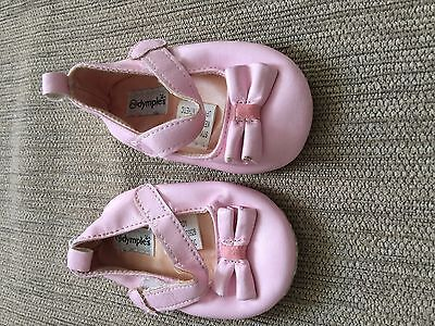 Size 2 Pink with Bow Baby Girl Shoes