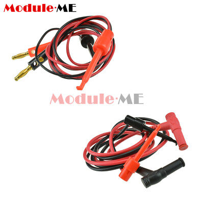 1 Pair Banana Plug To Test Hook Clip Probe Cable For Multimeter Test Equipment