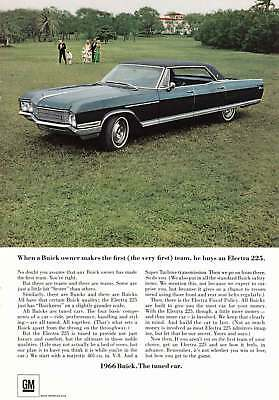 1966 Buick Electra 225: First Team (10026) Print Ad