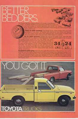 1978 Toyota Half-Tons: Better Bedders (17920) Print Ad