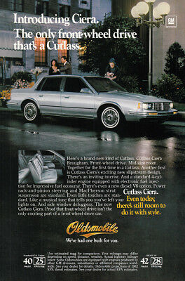 1982 Oldsmobile Ciera: Only Front Wheel Drive (23034) Print Ad