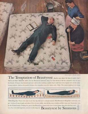 1961 Beautyrest by Simmons: Temptation (19911) Print Ad