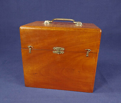 Antique Whitall Tatum Quack Medical Device For Electro-Therapy In Fine Wood Case