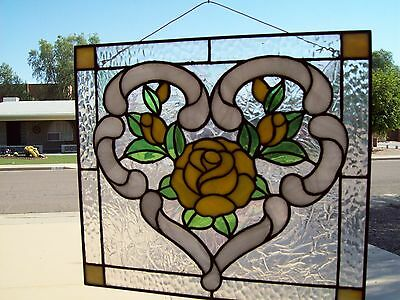 Stained glass YELLOW ROSE