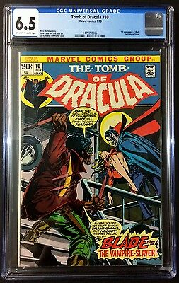 Tomb of Dracula #10 CGC 6.5 1st Blade From Personal Collection