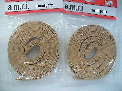 2 PACKS AMRI N GAUGE CORK UNDERLAY  900mm (5 pieces) X 3mm X 24mm  PACK I-0404