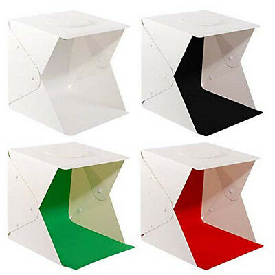 Studio Light Portable Photography Box Photo Mini Led Kit Tent +4color Backdrops