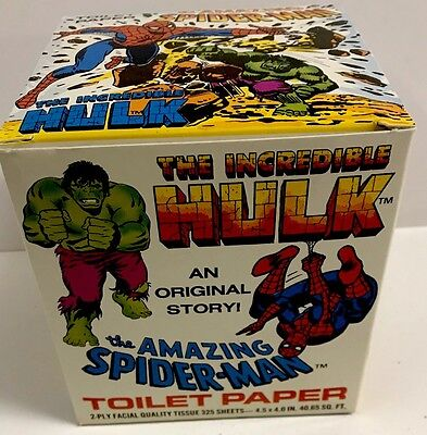 Amazing Spider-Man & Incredible Hulk - Toilet Paper - Complete Roll - 1979-New