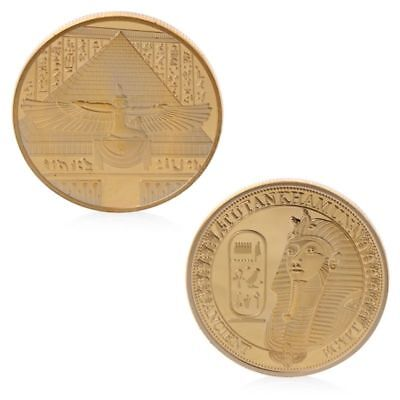 Golden Ancient Tutankhamun Pyramids Commemorative Challenge Coin Collection