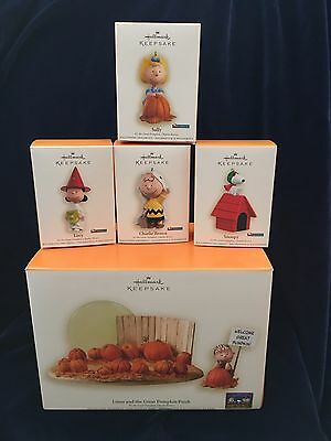New 2006 Hallmark It's The Great Pumpkin Charlie Brown Complete 6 Pc Set Sally