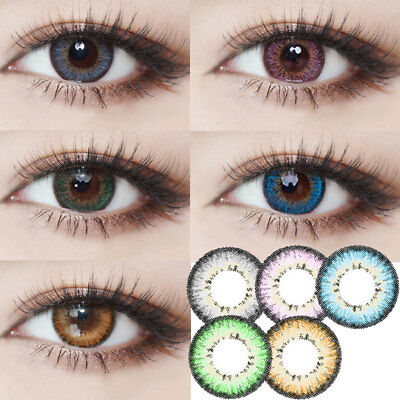 2pcs Muse Contact Lens Colored Highlight Eye Makeup Enlarge Eyes Lady Lentilles,