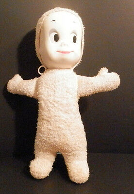 """RARE Vintage Stuffed Casper the Friendly Ghost 15"""" TALKS With Pull String"""