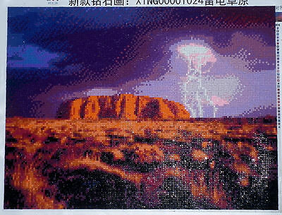 3D 5D Ayers Rock ( Uluru ) Embroidery Cross stitch Mosaic resin tile picture kit