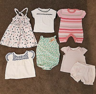 Baby Girl Summer Clothing Bundle Dress Rompers Tops Outfit Set Size 00 Pretty