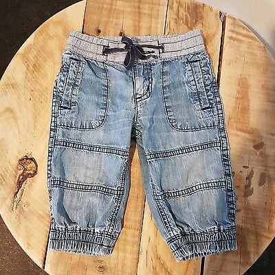 COUNTRY ROAD Baby Pants Soft Chambray Jeans Boy Girl Unisex Size 0 6-12 Months