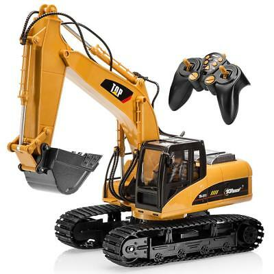 New 15 Channel Full Functional Remote Control Excavator Construction Car Toy US