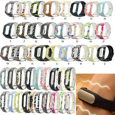 Color Patterned Replacement Wristband Band Strap For Xiaomi Mi Band 2 Bracelet