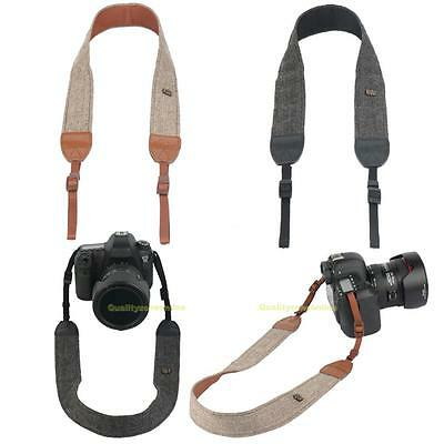 Quick Single Camera Shoulder Neck Vintage Strap Belt for DSLR Sony Nikon Canon