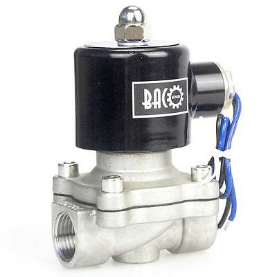 """BACOENG DC12V Stainless Steel 1/2"""" BSP NC Electric Solenoid Valve"""
