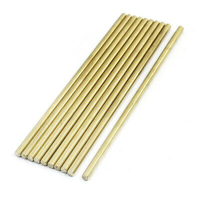 10Pcs Brass 100mm x 3mm Round Rod Stock Bar for RC Airplane Model Machining