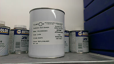 Car Paint Body Colour Mixed To Code 2K 2 Pack Basecoat Pearl Metallic 1000Ml 1L