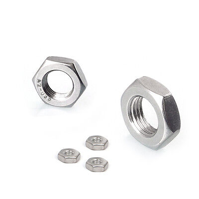 304 Stainless Steel Select M6 - M24 Thin Hex Nuts Right Hand Fine Thread #QR5 ZX