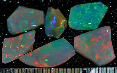 19.05 Carats Of Solid Gem Quality Lightning Ridge Rubbed Opal Parcel