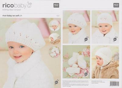 Rico 151 Baby Classic Dk Hats/mittens/bootees Original Knitting Pattern -0-4 Yrs