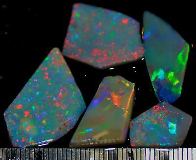 19.60 Carats Of Solid Gem Quality Lightning Ridge Rubbed Opal Parcel