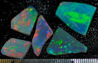 19.95 Carats Of Solid Gem Quality Lightning Ridge Rubbed Opal Parcel