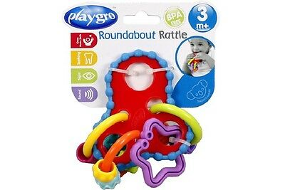 Quirky New Baby PLAYGRO Roundabout Rattle/Teether Toy 3+ Months