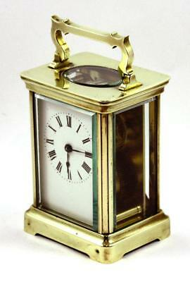Heavy Antique Brass Carriage Clock, c1900-20, Excellent Working Order